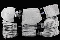 4 12 Pack Athletic Crew socks Cotton Gray Socks Unisex 9-11 10-13