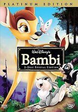 DISNEY Bambi (DVD, 2005, 2-Disc Set, Special/Platinum Edition) NEW Free Shipping