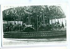 FF -0009 - Strung Horse & Cockerals Carousel Vintage Photograph