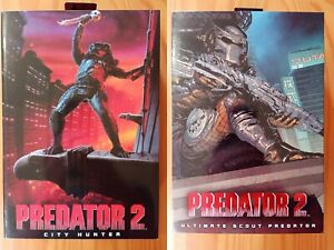 """NECA REEL Toys 7"""" Scale - Predator 2 Ultimate City Hunter + Ultimate Scout NEW"""