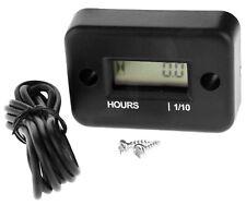 Black Waterproof Motorcycles Boat Engine Digital Hour Meter Tachometer Gauge