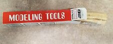 """DICK BLICK MODELING TOOLS LOT OF 10 NEW FACTORY PACKAGING MODEL 12600 6"""" WOOD TO"""