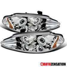 For 1998-2004 Dodge Intrepid Clear Led Drl Dual Halo Rims Projector Headlights (Fits: Dodge Intrepid)