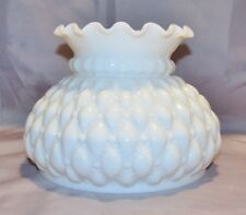 """Lamp Shade, 5-3/4"""" High, Opal Glass, Quilted Diamond, Fits 7"""" Shade Ring"""
