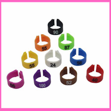Bird Plastic Clip Rings Pigeons Colored Foot Ring Numbers For Multiple Colors