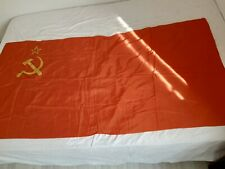 1980 MADE IN USSR. ORIGINAL. VERY BIG BANNER OF THE SOVIET UNION