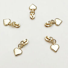 10 Pcs 3#  Zipper Pull Slider Heart Metal Head Repair DIY Garment Accessories
