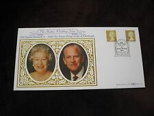 1997 Benham Silk Cover, Golden Wedding, Elizabeth II + Prince Philip, Royalty
