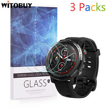 For Amazfit Stratos 3 GPS Tempered Glass Screen Protector 9H Hardness 3 Packs