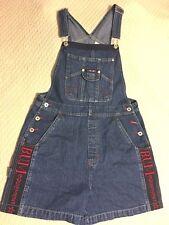 Bum Equiment Blue Denim Red Highlights Shortalls Carpenter Size M