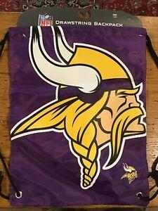 NFL Minnesota Vikings Drawstring Backpack New