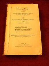 "RARE ANTIQUE 1860 BOOK ""SALMA GUNDI, WHIMWHAMS & OPINIONS OF LAUNCELOT...."""