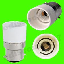 BC B22 pour E14 Adaptateur Prise Support Lampe LED Convertisseur VENDEUR ANGLAIS