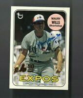 Maury Wills 2019 Topps Archives EXPOS 50TH ANNIVERSARY GOLD AUTO 30/50 JSY #