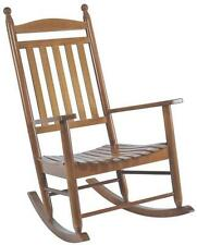 New Seasonal Trends Kn22N Classic Natural Wooden Porch Rocking Chair 5111828