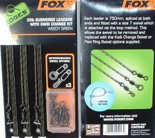 Fox Boiliemontagen 3er Pack, 30 Lbs Submerge Leaders with Kwik Change Kit CAC580