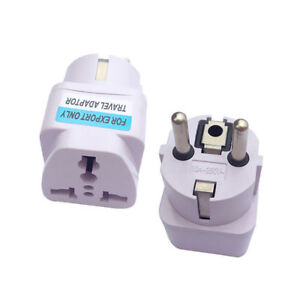 High Quality UK US AU to EU AC Travel Charger Power Adapter Converter Wall Plug
