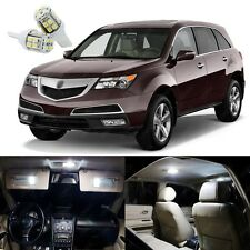 19 x Xenon White LED Interior Lights Package Kit Deal For Acura MDX 2007 - 2013