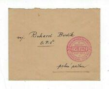 1942 Zborov Czechoslovakia Field Post Envelope