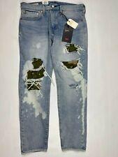 Levi's Hi Ball Roll Camo Blue Jeans Men's Sz 31x30  Warp Stretch Denim Pants New