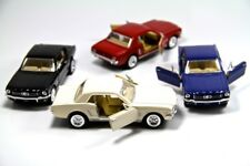 "4PC SET: 5"" Kinsmart 1964 1/2 Ford Mustang Diecast Model Toy Car 1:36"