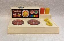 Fisher Price Magic Burner Stove Top 1978 w/ Salt and Pepper Shakers