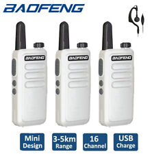 3x Baofeng BF-R5 UHF Two Way FM Radio VOX Walkie Talkies Rechargeable Interphone