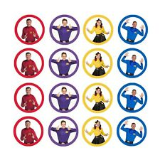 16x EDIBLE New Wiggles Cupcake Toppers Birthday Wafer Paper 4cm (uncut)