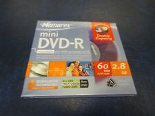 Memorex Mini DVD-R Recordable For DVD Camcorder or PC 60 Min 2.8 GB NEW
