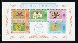 Trinidad & Tobago Scott #288a MNH S/S Orchids Flowers FLORA CV$6+