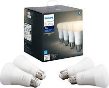 Philips Hue 476977 A19 Bluetooth Smart LED Bulb - 4-pack White