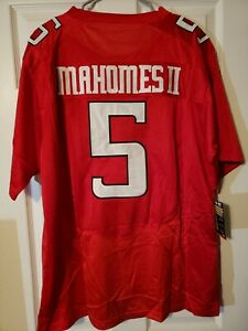 Patrick Mahomes red Texas Tech jersey