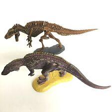 Dinotales Dinosaur Miniature Figure Acrocanthosaurus & Skelton Set Kaiyodo Japan