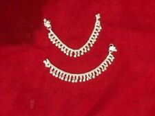 """bracelet bells foot India jewelry 7"""" child silver charm chain bells ankle anklet"""