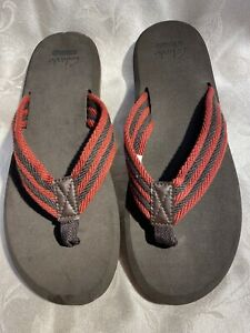 Clarks Collection X Banick Men's New Brown And Maroon Flip-Flops Sandals Sz 8/41