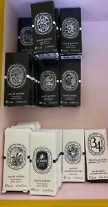 Diptyque Fragrance Perfume Sample Sprays CHOOSE YOUR SCENT 2mL/0.06fl oz each