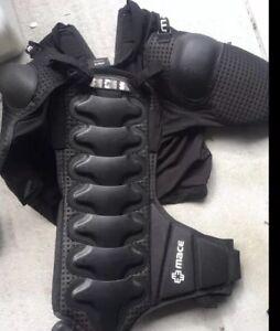 Mace Swat Protective Jacket - Size Large Armour BMX 661 Six six One Bike Bicycle