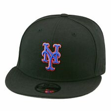 954362149cb New Era New York Mets Snapback Hat Cap All Black Royal   Orange Outline