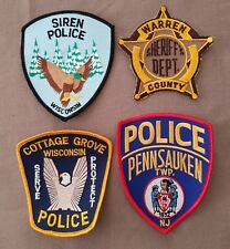 USA - 4 x Different Police Patches #54