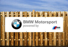 BMW MOTORSPORTS LOGO PVC BANNER - WORKSHOP, GARAGES & BEDROOM
