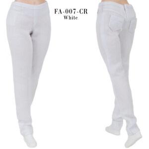ELENPRIV FA007CR-05 white denim pants for Barbie Curvy MTM Collector doll