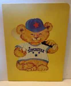 Vintage 1980 Shirt Tails Lion Cub Superstar Baseball School Pocket Folder Yellow
