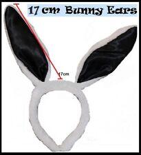 White Black BUNNY Rabbit EARS Plush Fluffy HEADBAND Easter Hens Party Costume