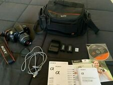 Sony Alpha a230 10.2MP Digital SLR Camera - Black (Kit w/ 18-55mm Lens + EXTRAS)