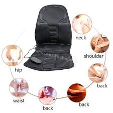 Massage Chair Pad Electric Seat Heat Office Car Cushion Back Neck Vibration 12V