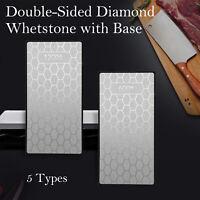 "Professional Diamond Sharpening Stone 6"" Whetstone Extra Fine/Fine/Coarse & Base"