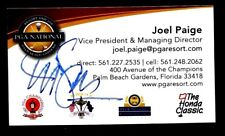 HAND SIGNED BUSINESS CARD OF JOE PAIGE, VP OF PGA  HOME OF THE, HONDA OPEN