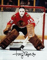 Tony Esposito Autographed Signed 8x10 Photo ( Blackhawks HOF ) REPRINT