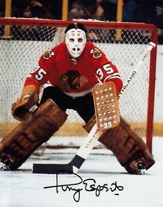 Tony Esposito Autographed Signed 8x10 Photo ( Blackhawks HOF ) REPRINT