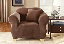 Sure Fit Stretch Pique Chair Slipcover in Brown